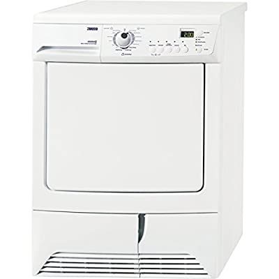 Zanussi zth485Own Front Load 7kg A + White Tumble Dryer (, Front Load, Heat Pump, LCD, Buttons, Rotating, White)