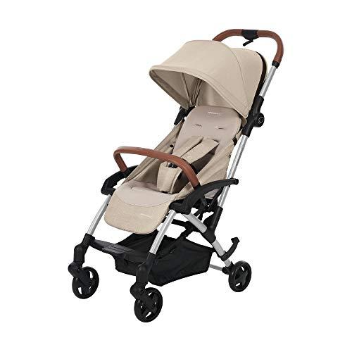 Maxi Cosi Laika Baby-Kinderwagen, ultra-kompakter und federleichter Buggy von der Geburt an, einfacher Faltmechanismus, 0 Monate - 3,5 Jahre, 0 - 15 kg, nomad sand/beige