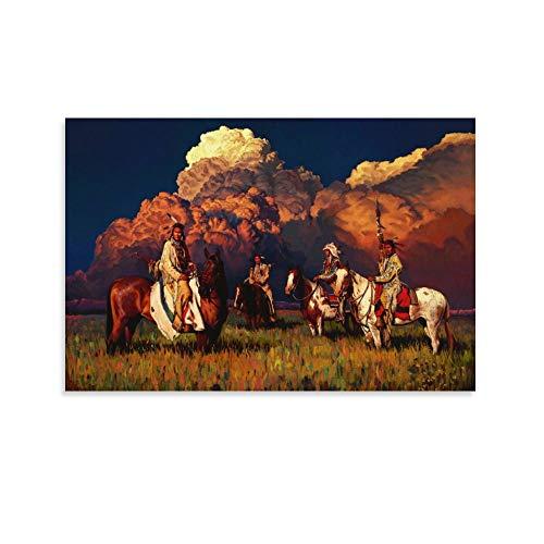 ZHENGDONG Rdr2 Poster, Motiv: Indianerin, 30 x 45 cm