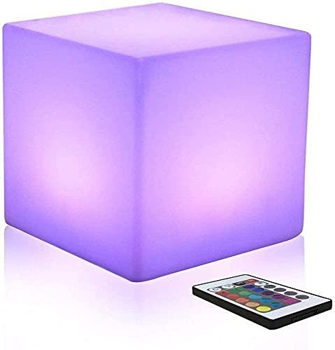 Paddia Muebles iluminados por LED al aire libre 16 colores Impermeable Cubo Silla Bar Luz Jardín Taburete brillante Cubo Control remoto inalámbrico Fiesta Boda KTV Pub Bar Luminoso Led Cube Taburete L