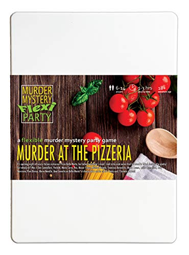 Murder Mystery Flexi Party Murder at The Pizzeria 6-14 Player Dinner Party Game
