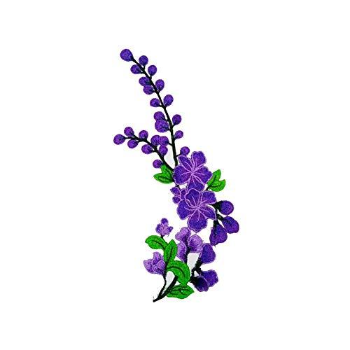 Wisilan - Parche bordado flores manualidades, decoración