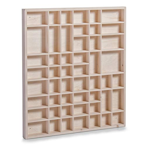 Zeller 12106 Caja Expositora de Pared, Pino, Marrón, 52x46x3.5 cm