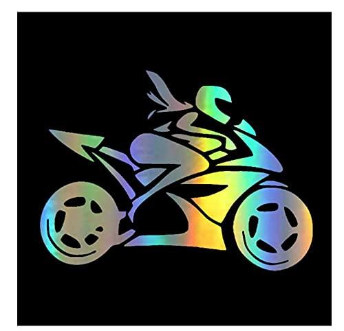 MDGCYDR Pegatinas Coche Graciosas 20 * 14,7 Cm Pegatinas Coche Graciosas Chica Motocicleta Rider Calcomanías Pegatinas En El Coche Estilo De Coche De Motocicleta Reflectante