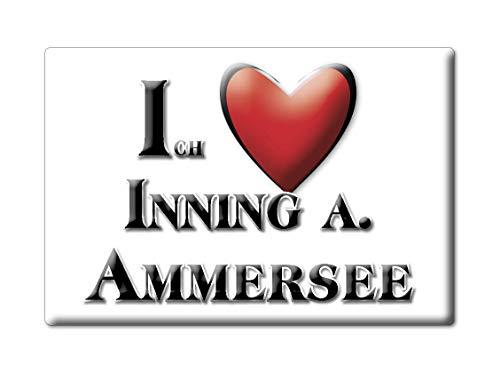 Enjoymagnets INNING A. AMMERSEE (by) Souvenir Deutschland Bayern Fridge Magnet KÜHLSCHRANK Magnet ICH Liebe I Love