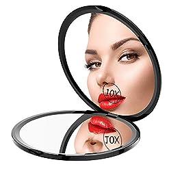 cheap Gospire Travel Pocket Makeup Mirror, 1X / 10X Bidirectional Compact Pocket Cosmetic…
