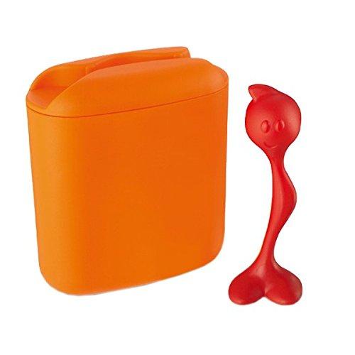 Koziol Vorratsdose mit Dosierer Orange und Rot 500gr