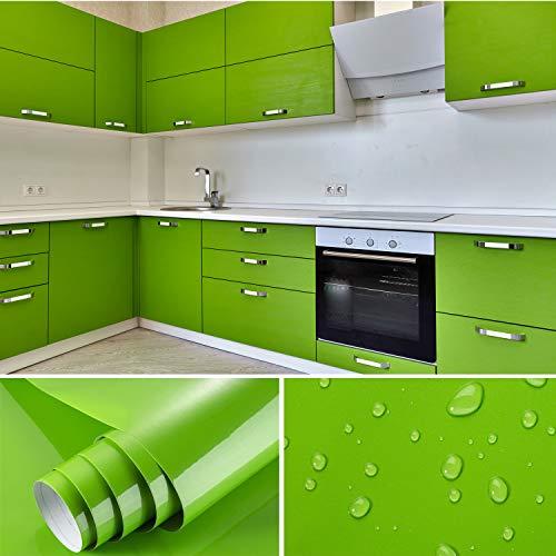 Cahomo 2 Rollen 5.5 * 0.61M Aufkleber Küchenschränke PVC Klebefolie selbstklebend DIY Dekofolie Möbel Renovierung Küchenschränke Möbelfolie Tapeten, Plotterfolie Küchenfolie Dekofolie MIT Glitzer