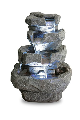 Primrose Zimmerbrunnen Shubunkin Spills mit LED-Beleuchtung 36cm