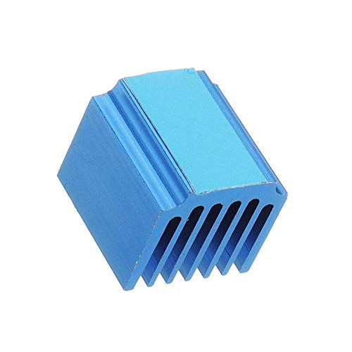 ZJN-JN Computer Accessories, Stepper Motor Driver Cooling Heatsink 4PCS Blue TMC2100 LV8729 with Back Glue for 3D Printer Industrial Electrical Motor Drivers