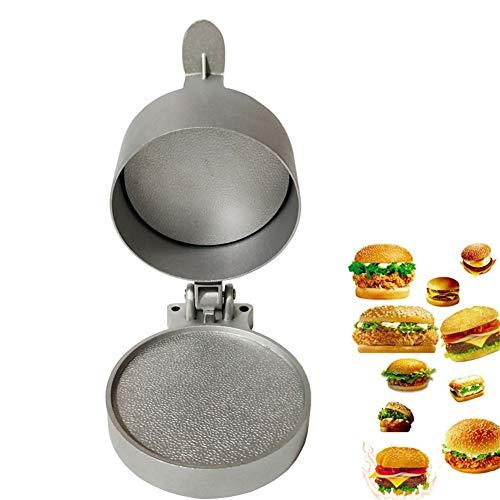 JYSLI Schnell Aluminium-Legierung Fleisch Werkzeug Hamburger Fleischpresse for Koteletts Patty Mold Steak Beef Burger Maker Hamburger for Fleisch Küchenhelfer tragbar (Color : Gray)