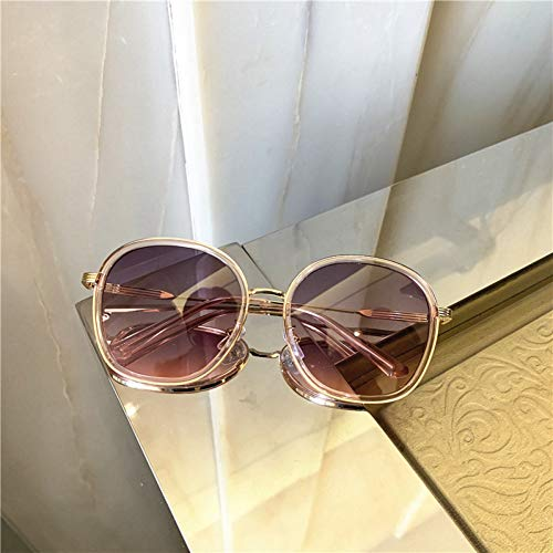 CNBKMG Vintage Luxury Oversize Sunglasses Metal Frame Grandient Shades Sun Glasses Summer-D