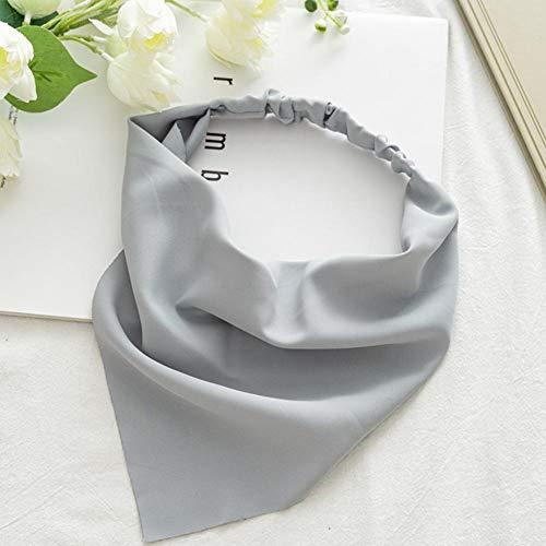 MUGBGGYUE Elastisches Haar Schal Stirnband Haarbandanas Dreieckstuch Kopftuch für Frauen Mädchen Boho Haarschal Vintage Stirnband