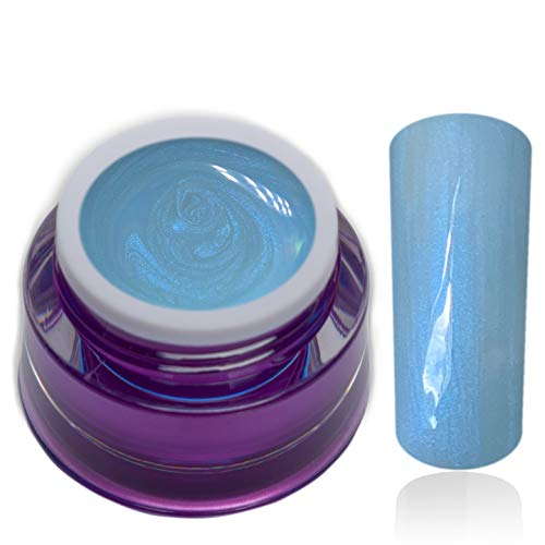 Premium Farbgel Pastell Pearl Miaminight Blau Hellblau UV-Gel Nagelgel Colorgel 1x5ml (1er Pack)