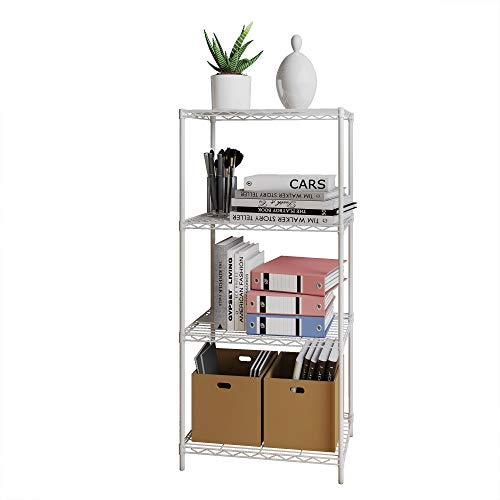 Sharehouse 4-Shelf Garage Shelving,Storage Shelving Unit,Shelves for Bedroom,Kitchen, Steel Organizer Wire Rack,Silver