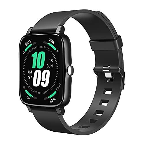 Smartwatch, Tanzato 1,7   Touch Schermo Orologio Fitness Uomo Donna Activity Tracker, Impermeabile IP68 Smart Watch Cardiofrequenzimetro da Polso Contapassi per Android iOS con Notifiche Messaggi