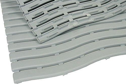 TP Trendy Nassraum-Matte ca. 60 x 200 cm, Farbe: Grau, Bodenbelag für Umkleideräume & Barfußbereiche, Stärke: 10 mm, Gute Rutschhemmung, Beständig gegen Laugen, Chlor- und Salzwasser