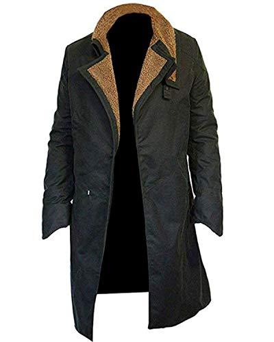 LeatherTrendz Blade Runner Ryan Gosling Abrigo para Hombre en Lana y Piel sintética (XXS-5XL) Blade Runner Abrigo Ryan Gosling Blade Runner 2049 Coat Negro Negro (Medium