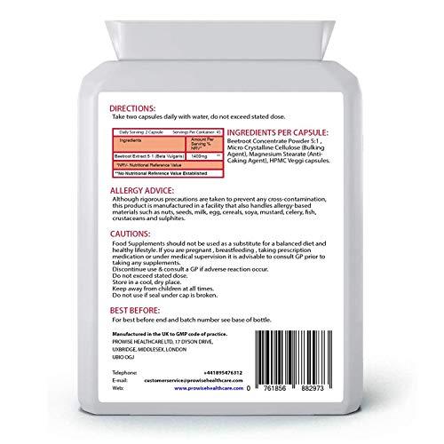 Prowise Remolacha 700mg 90 Cápsulas Una rica fuente de vitaminas