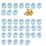 N\A YANSHON 26 PCS Moldes de Galletas con Letras, 10 PCS Moldes de Número para para Decoración de Pasteles Moldes Cortadores con Forma de Alfabeto para Galletas, Dulce de Azúcar, Pasteles, Chocolate