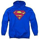 Superman Classic Shield Adulto Hoodie Sudaderas, L