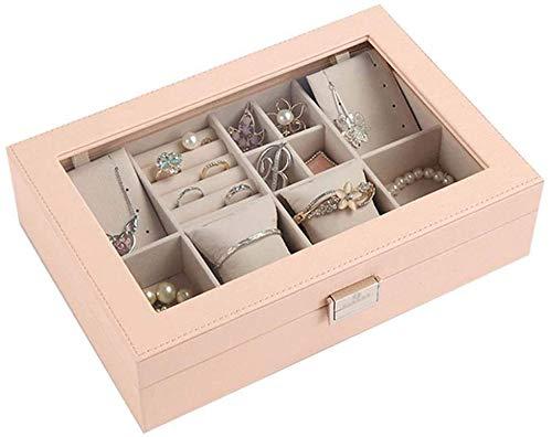 Scatola portaoggetti per display per orologi Scatola portaoggetti, elegante scatola per orologi da donna in pelle minimalista Scatola portaoggetti per gioielli Collana Orecchini Anello Orologio per