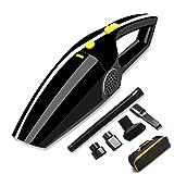 Aspirateur Voiture,Sonoka Mini Aspirateur Portable Voiture Allume-Cigare 12V 120W 4000PA, Technologie sèche et Humide fourni avec Filtre HEPA Lavable,Cordon d'alimentation de 5m, et Sac de Transport