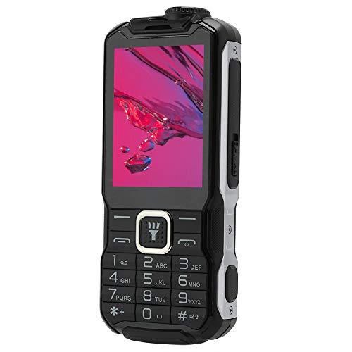 fasient Teléfono Celular con Barra 2G, teléfono con Barra de 2.8 Pulgadas, Botones Grandes y Linterna con Dos Fuentes Grandes para Personas Mayores(Black)
