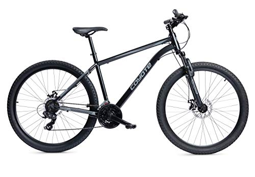 Coyote Zodiac Hardtail Mountain Bike, 27.5' Wheel, 18 Speed - Satin Black (15')