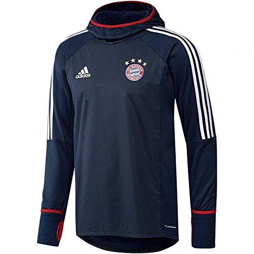 adidas FCB Warm FC Bayern Monaco, Felpa Uomo, Blu (Maruni/Bianco), S