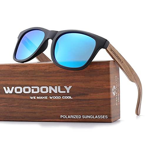 WOODONLY Walnut Wood Polarized Sunglasses - Cool Style Matte Finish Frame...