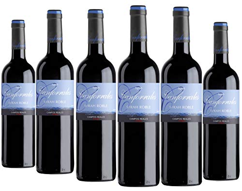 Canforrales Syrah Roble Vino tinto - Paquete de 6 x 750 ml - Total: 4500 ml