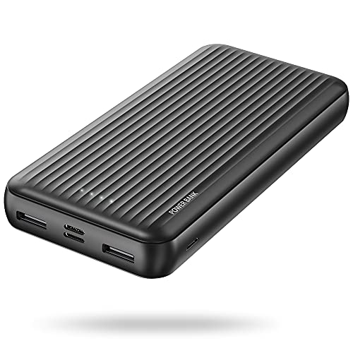 undreem Power Bank 20000mAh, 3 in 1 Ingresso Caricabatterie Portatile con Porta Mrico & USB C & Lightning,Batteria Esterna 2 USB Uscita(Totale 4.8A),Powerbank per iPhone,Samsung【2021 Ultima Versione】