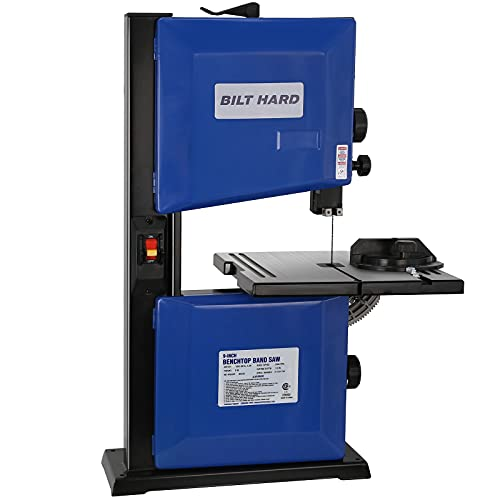 BILT HARD 2.5-Amp 9-inch Band Saw, Benchtop Bandsaw for Woodworking, with Blade and Miter Gauge - CSA Listed