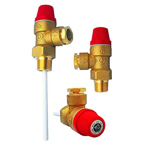 altecnic presión y Temperatura Válvula Descarga 7bar 1/2 tpr15