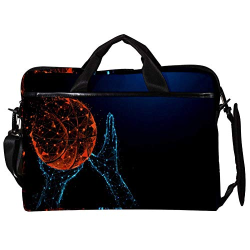 TIZORAX Laptop Messenger Shoulder Bags Basketball Shooting Computer Sleeve Notebook Carrying Case 15-15.4 inch Handbag