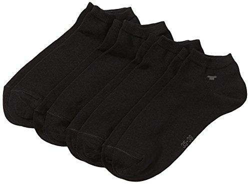 TOM TAILOR Unisex - Erwachsene Sneakersöckchen 4-er Pack, 9415 unisex sneaker 4 pack (Schwarz (Black - 610), 1 X 8 Paar Vorteilspack 35/38)