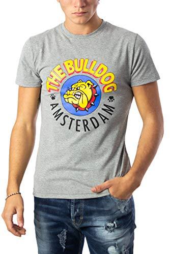 The Bulldog Amsterdam T-Shirt Hombre Large Gris