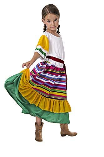 Costumizate! Disfraz de Mexicana Talla 1-3 Especial para niños Fiestas de Disfraces o Carnaval