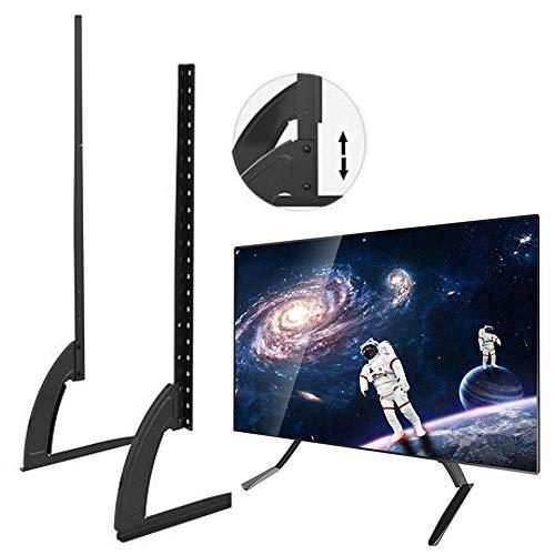 AEUWIER Supporto da tavolo per TV con piedistallo e supporto per monitor da 26 a 37 schermi TV, supporta fino a 40 kg e massimo con 2 livelli di regolazione in altezza.