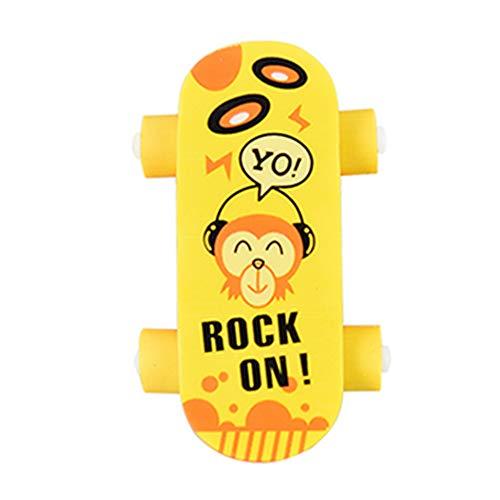 5 Stück Skateboard Radiergummi Netter Radierer Mini Scooter Radiergummi Schule Büro Papier und Schreibwaren für Kinder Geschenk zufällige Farbe Bürobedarf