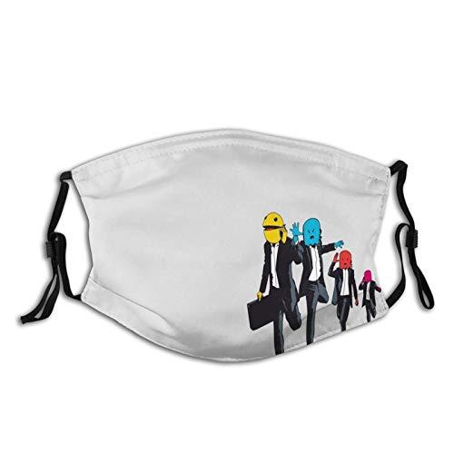 FULIYA Fashion Wiederverwendbare waschbare Gesichtsabdeckung, Unisex, für Motorrad, Fahrrad, Laufen, Radfahren und Outdoor, mit 2 Filter, Pac-Man, Monster, Vektor, Anzüge, Joggen