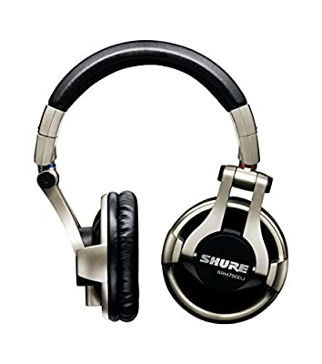 Shure SRH750DJ-E Professional Closed-Back DJ Headphones, High-Output Bass with Extended Highs, Swiveling Ear Cups, Detachable Cable, Collapsible from Shure Incorporated