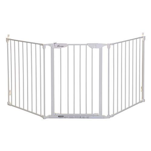 Dreambaby Cancelletto di sicurezza regolabile per camino Newport Adapta-Gate (85.5cm - 210cm), bianco
