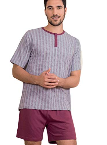 KLER - Pijama Hombre Color: Burdeos Talla: x-Large