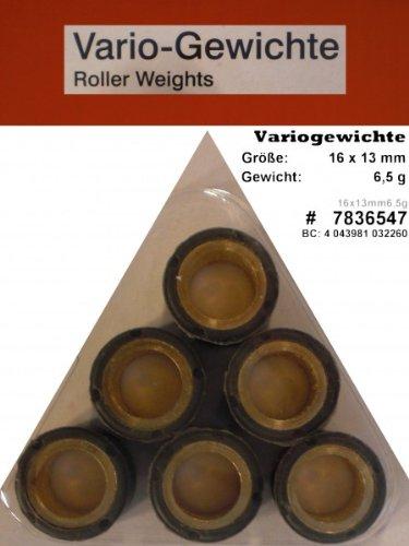 Variomatik Rollen Gewichte 16x13 mm 6 5 gr für Roller Kymco Super 8 50 4T