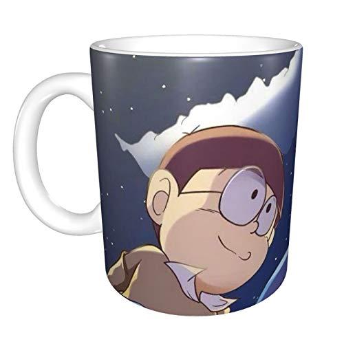 Doraemon - Taza de café y té con diseño de festival, regalo de cumpleaños para hombres y mujeres, 325 ml