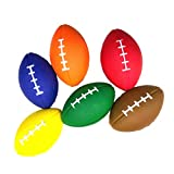 Amosfun 6pcs Balles de Mousse Ballon de Rugby Ballon de Football Peitits Ballons Jouet pour Bebe Enfant Animaux Couleur Aléatoire