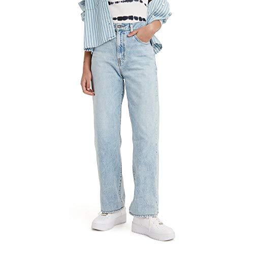 Levi's Women's High Waisted Straight Jeans, Charlie Boy - Light Indigo, 32 (US 14)