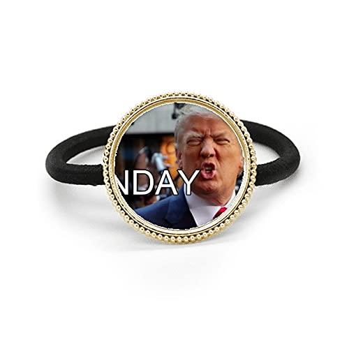 Presidente americano Gran imagen ridículo Metal Plata Corbata de pelo y diadema de goma